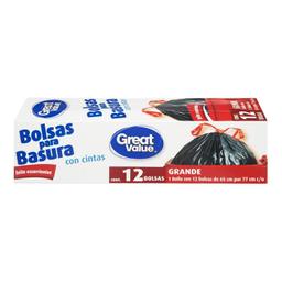 Great Value bolsa para basura con cintas