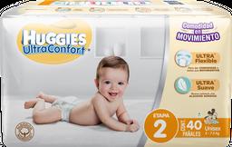 Pañal Huggies Ultraconfort Etapa 2 Unisex 40 U