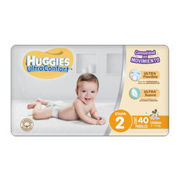 Pañal Huggies Ultraconfort Etapa 2 Unisex 40 U