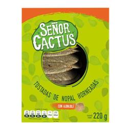 Tostadas Señor Cactus De Nopal Con Ajonjolí 220 g