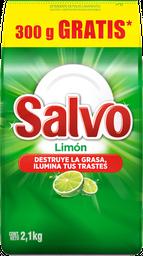 Lavatrastes Salvo en Polvo Limón 2.1 Kg