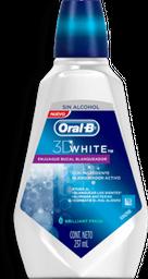 Enjuague Oral B Bucal 3D White Brillant Fresh 237 mL