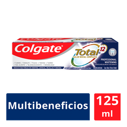 Colgate Pasta Dental Total 12 Professional Whitening 125 Ml