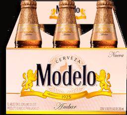 2x1 Cerveza Modelo Ambar 355 mL x 6
