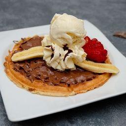 Waffle Nutella Platano