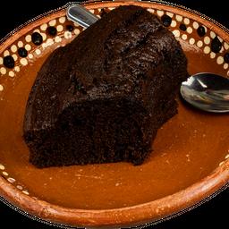 Rebanada de rosca de chocolate