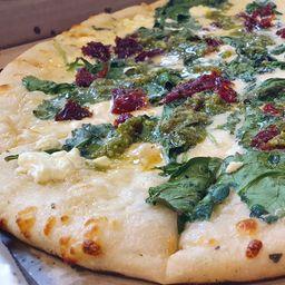 Pizza Spinach Alfredo