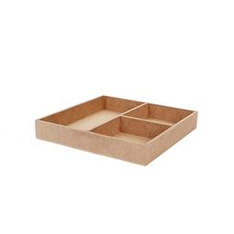 Arenero 3 Divisiones 3x20.2x20.2 cm Natural