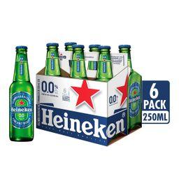 Heineken 0.0 Cerveza Botella Six Pack