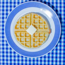 Waffle con Huevo, Jamon O Tocino.