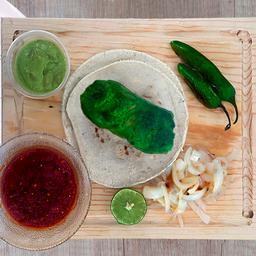 Taco de Chorizo Verde