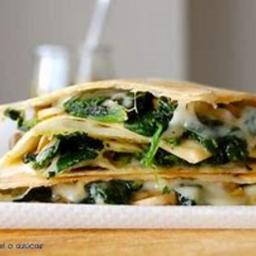 Sincronizada de espinacas y queso manchego.