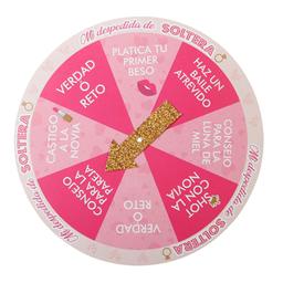 Juego de Ruleta Despedida de Soltera 22.7x22.7 cm Rosa