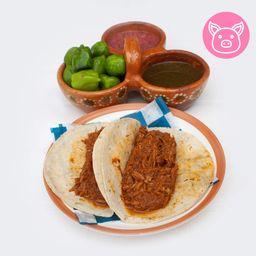 Taco de Cochinita Pibil ( 1 Pz )