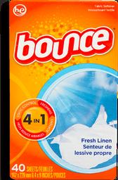 Toallitas Desechables Bounce con Suavizante 40 U