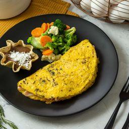 Omelette Espinaca y Champiñones