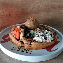 Waffle Masa de Canela