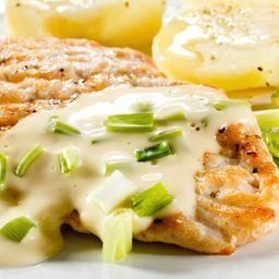 Milanesa de pollo gratinada