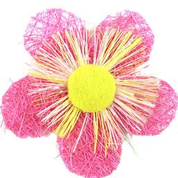 Flor de Fibra 5 cm 5 U Rosa