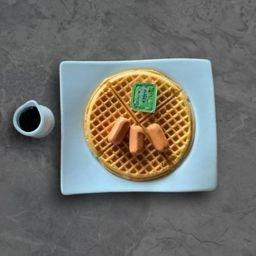 Waffle con Salchichitas