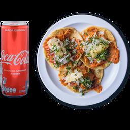 Combo Cola Cola Regular/tacos Al Pastor