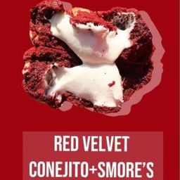 Galleta Red Velvet Smores y  Conejito