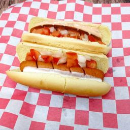 Hot dogs veganos