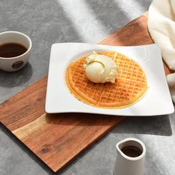 Waffle Sencillo con Helado