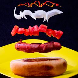 Hot dog tocino