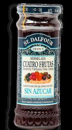 Mermelada St Dalfour Cuatro Frutras Sin Azúcar 284 g