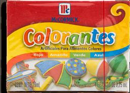 Colorante Artificial McCormick 7.25 mL x 4
