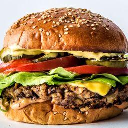 Fanburger con Champiñones y Papas
