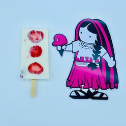 Paleta de Fresas con Crema