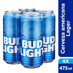 Cerveza Bud Light Light 473 mL x4