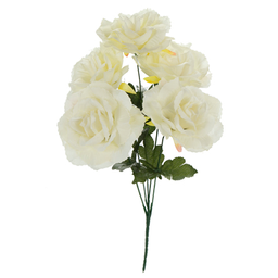 Bush Chico Rosas x5 Flores 40 cm Crema