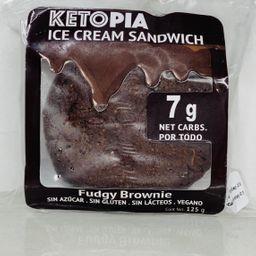 Ketopia ice cream sandwich fudgy brownie