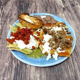 Chilaquiles Veganos con Carne