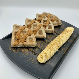 Waffles Dulces con Proteína