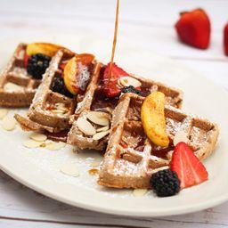 Waffles de Avena y Manzana