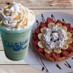 Combo Waffle y Frappé