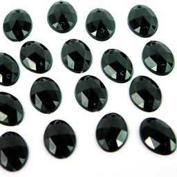 Piedra Para Coser Oval 13x18 mm 100 U Negro