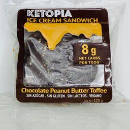 Ketopia ice cream sandwich chocolate peanut butter toffee