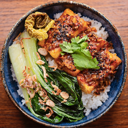 Bento de Tofu y Mapo de Shitake