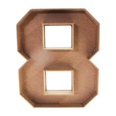 Caja Forma De Número 25cm 1pz - 8 - Art. 1883