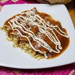Enchiladas Mayas con Pollo