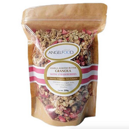 Almond Butter and Strawberries Vegan Granola