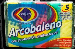 Fibra con Esponja Corazzi con Protección Antibacterial 5 U