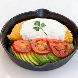 Keto Creamy Salmon Omelet