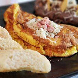 Omelette con Espinacas y Champiñones