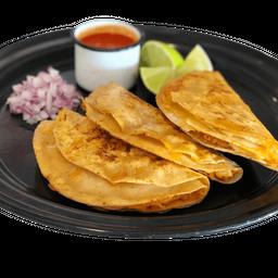 Tacos de Barbacoa con Queso